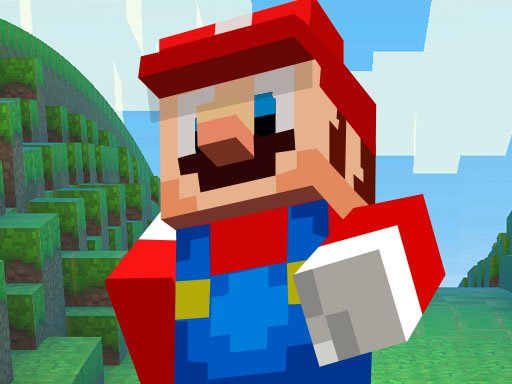 Play Super Mario MineCraft Runner Online